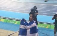 Η στιγμή που η Κατερίνα Στεφανίδη αντιλαμβάνεται πως πήρε το χρυσό μετάλλιο