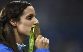 Ρίο 2016: η απονομή της Κατερίνας Στεφανίδη για το Χρυσό