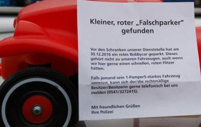 Osnabrück: Αναζητείται ο οδηγός αυτού του αυτοκινήτου … για παράνομο παρκάρισμα