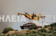 Συγκλονιστικό βίντεο: Η στιγμή που ένα Canadair βουτά στη φωτιά για να σώσει σπίτι