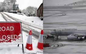 Στο χάος η Ευρώπη από το χιονιά: Ακυρώσεις πτήσεων σε Γερμανία, Βέλγιο, Ολλανδία, Γαλλία