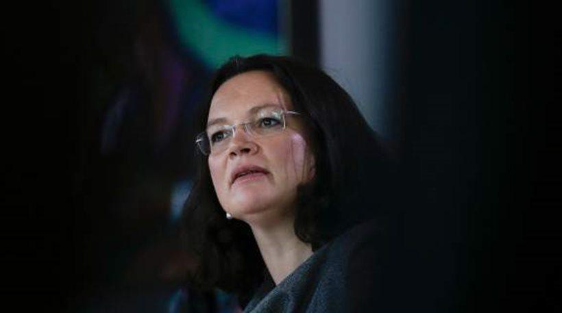 Γερμανία: Η Αντρέα Νάλες ετοιμάζεται να αναλάβει τα ηνία του SPD