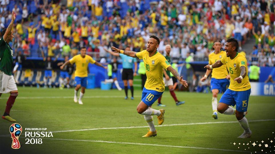 Μουντιάλ 2018 - Βραζιλία-Μεξικό 2-0: Με την σφραγίδα του Νεϊμάρ πέρασε στους «8»