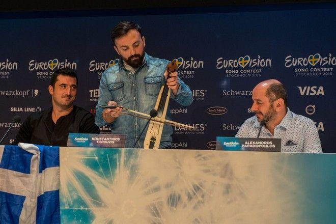 Eurovision: Η ποντιακή λύρα απέσπασε θερμό χειροκρότημα στη Συνέντευξη Τύπου
